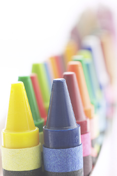 A new study says that this is the least used color in a box of Crayons. What is it?