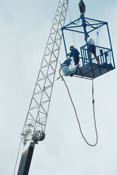 Woman Bungee Jumps Without A Harness